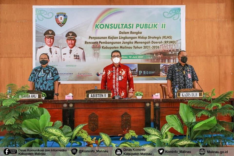 Pemkab Malinau Kembali Gelar Konsultasi Publik II KLHS RPJMD 2021-2026