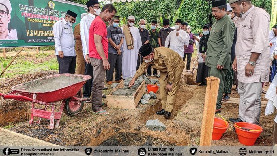 Wabup Malinau Hadiri Peletakkan Batu Pertama Pondok MTS Al-Khairat
