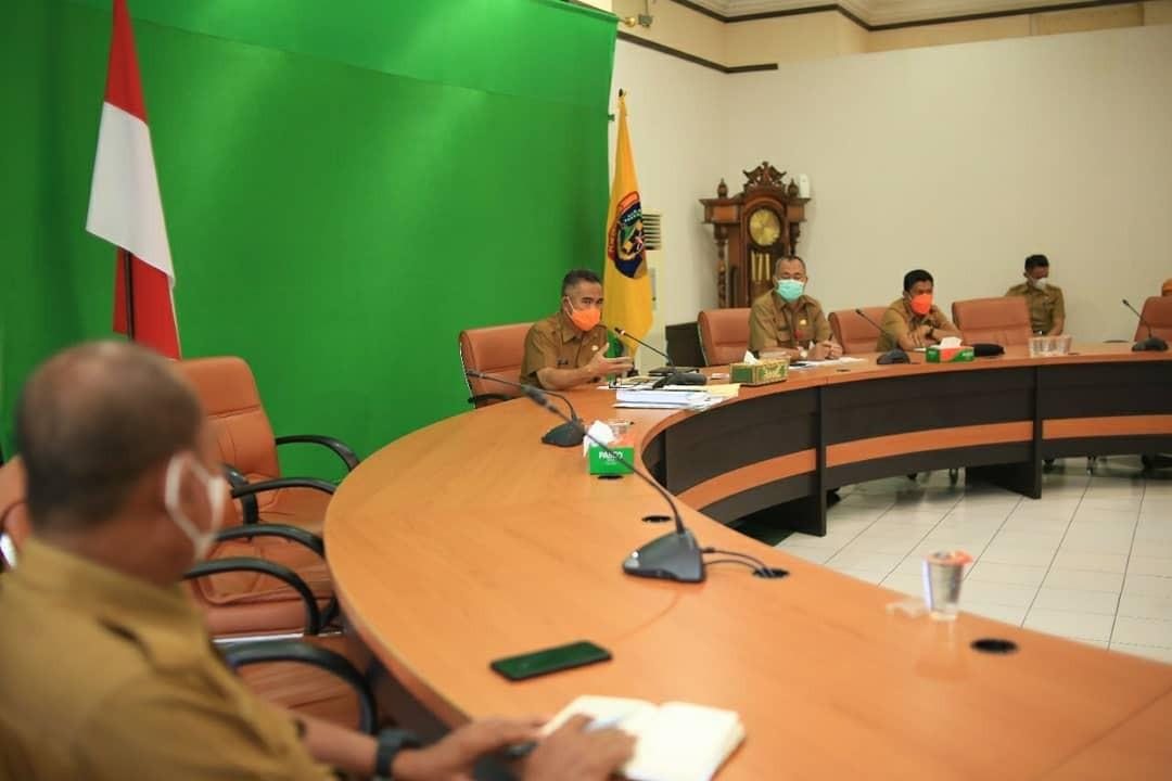 Walikota Pimpin Rapat Evaluasi Persiapan Penyelenggaraan Rapat Kerja Komwil V APEKSI 2021