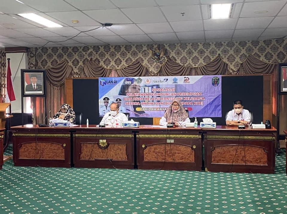 DP3AP2KB Gelar Sosialisasi dan Launching Perbup Nomor 20 Tahun 2021