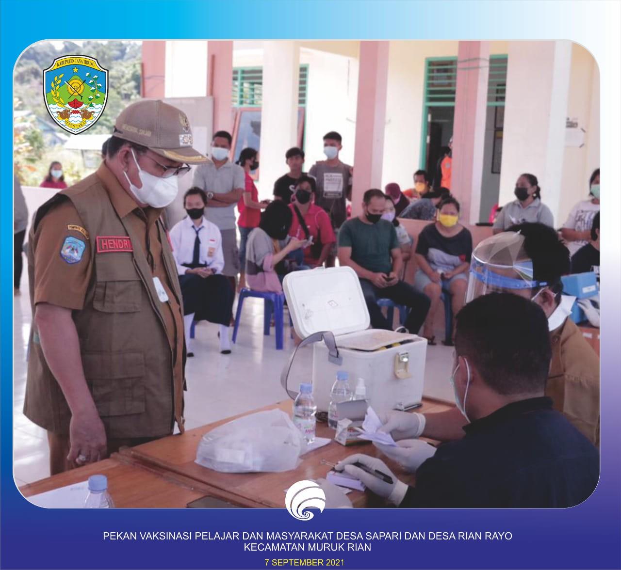 Wakil Bupati KTT Monitoring Vaksinasi Covid-19 untuk Masyarakat