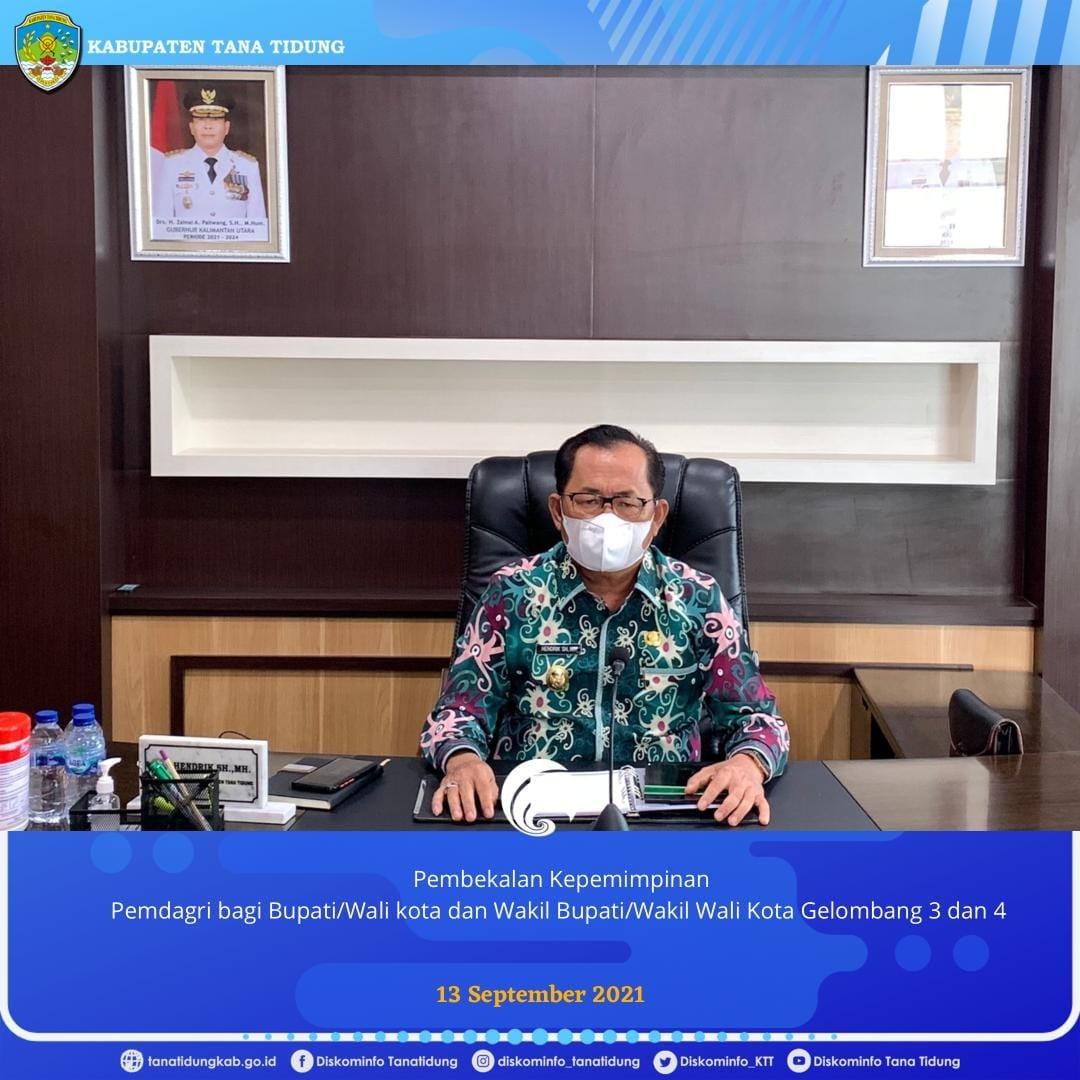 Wakil Bupati Tana Tidung Ikuti Pembekalan Kepemimpinan Pemerintahan Dalam Negeri