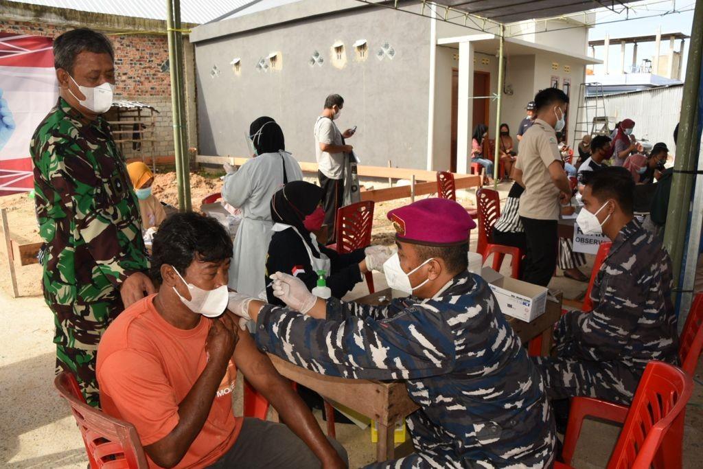 Lanjutan Serbuan Vaksin dalam Rangka HUT TNI AL