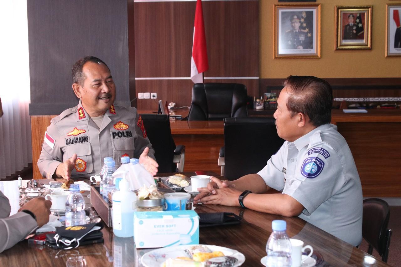 Jalin Silaturahim Kapolda Terima Kunjungan Kepala Cabang PT. Jasa Raharja