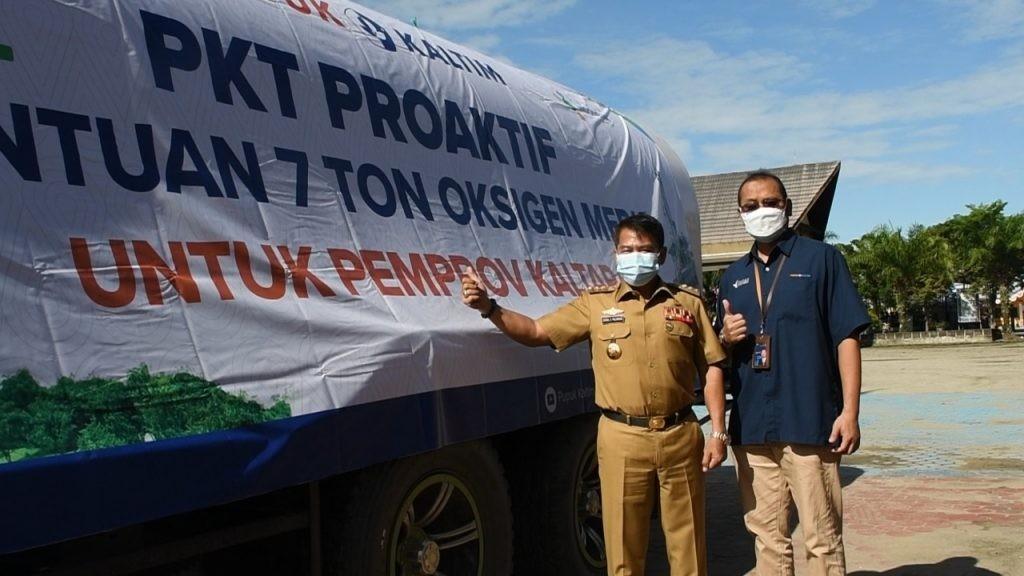 Gubernur Kaltara Apresiasi PT PKT Serahkan Bantuan Tujuh Ton Oksigen Medis