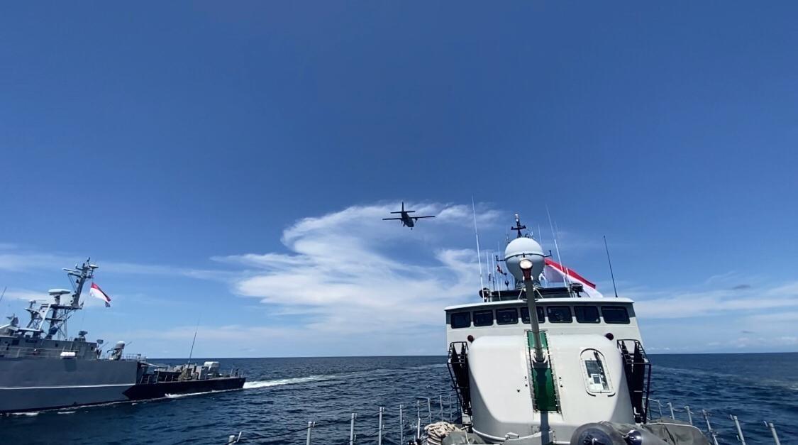 TNI AL Gelar Latihan Tempur di Perairan Kalimantan Utara