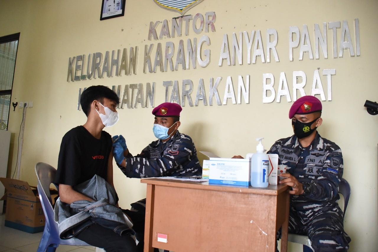 Masih Suasana HUT TNI AL, Lanjutkan Serbuan Vaksin
