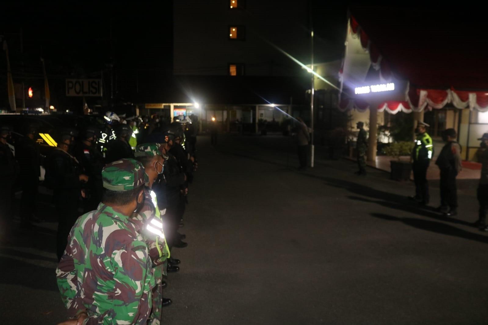 Himbau Masyarakat,Dandim dan Kapolres Tarakan Pimpin Patroli Prokes Skala Besar.